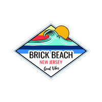 Sticker - Brick Beach- Sun & Wave Good Vibes Sticker