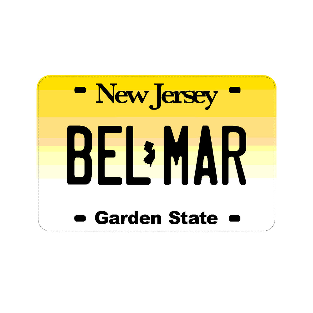 Sticker - Belmar - NJ License Plate