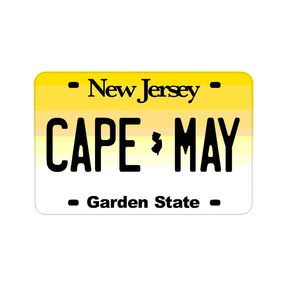 Sticker - Cape May - New Jersey License Plate