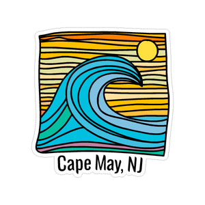 Sticker - Cape May - Wave w/ Lines