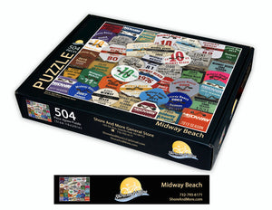 Midway Beach Badge Puzzle ***Pre-order for April Shipping date***
