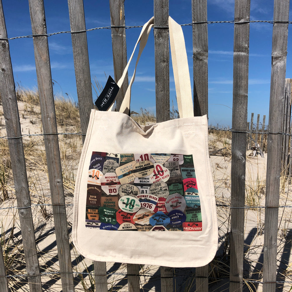 Tote Bag - Midway Beach Badges