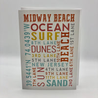 Note Card - Midway Beach
