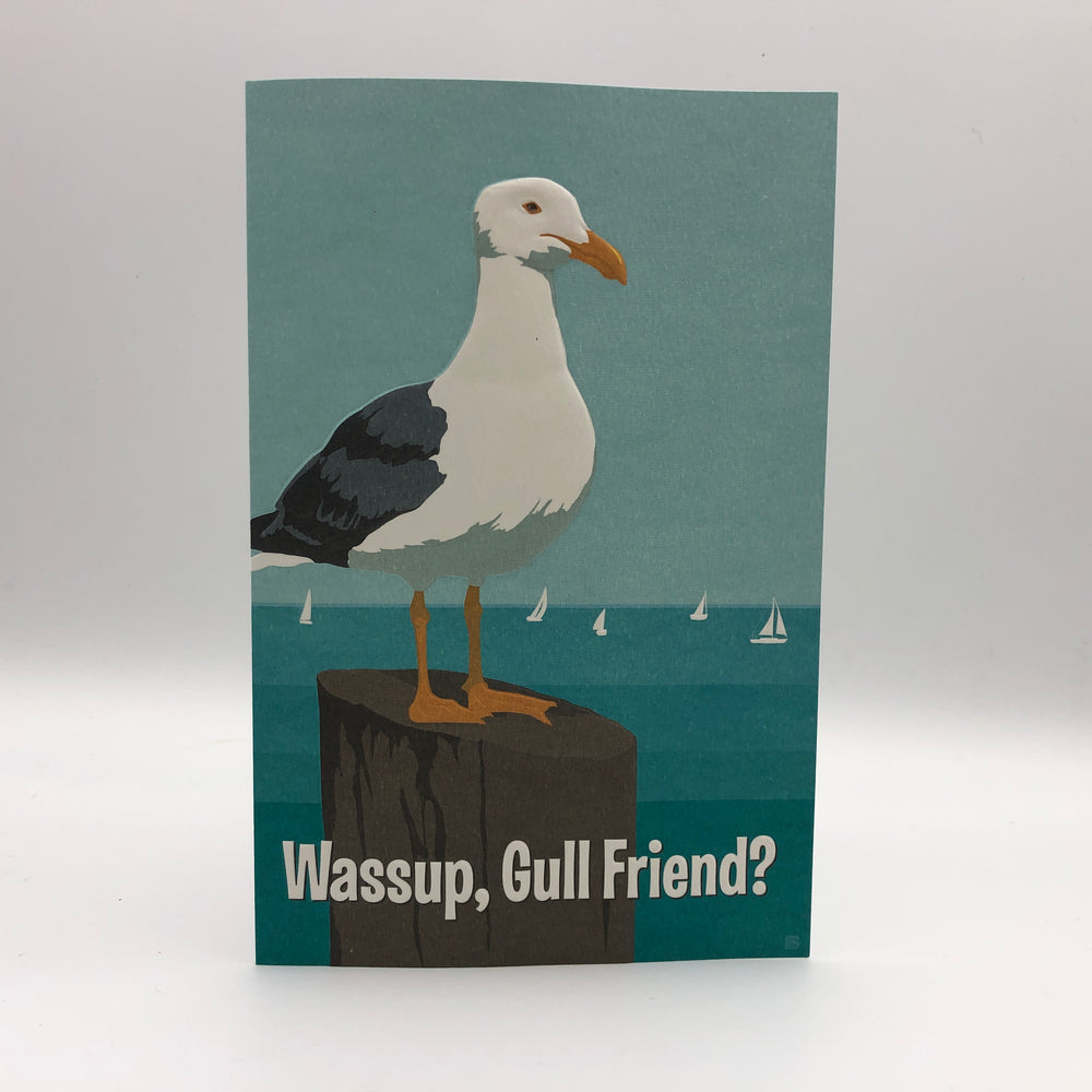 Greeting Card - Thinking of You - Wassup, Gull Friend?