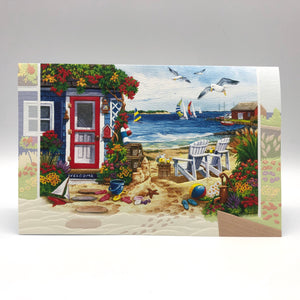 Greeting Card - Thinking of You - Summer Beach Cottage