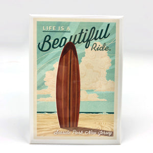 Magnet - Seaside Park - Life is a Beautiful Ride/Surfboard