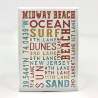 Magnet - Midway Beach - Typography