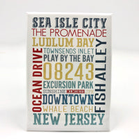 Magnet - Sea Isle City - Typography