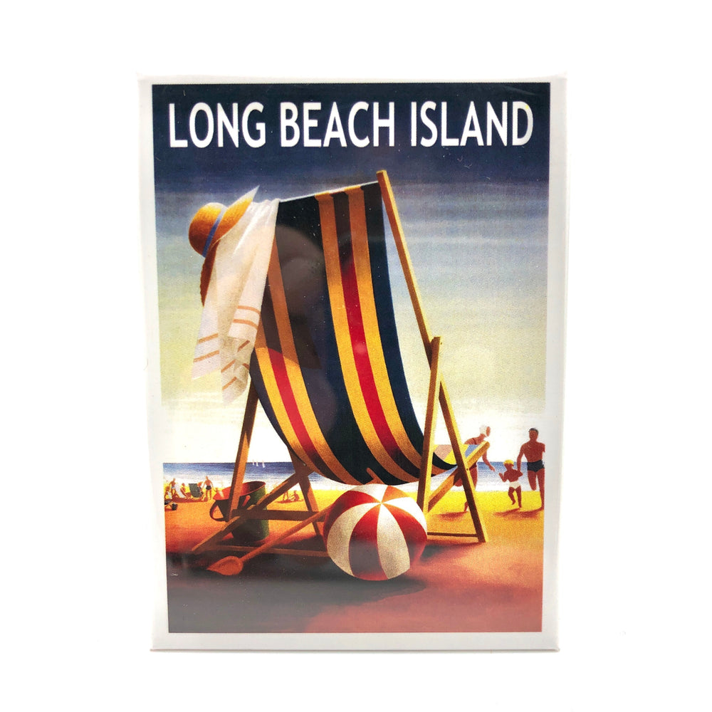 Magnet - Long Beach Island - Beach Ball and Chair