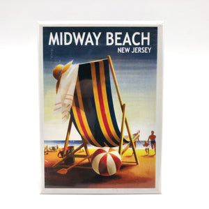 Magnet - Midway Beach - Beach Ball and Chair