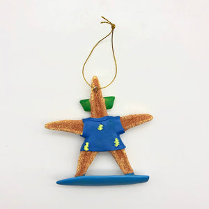 Christmas Ornament - Surfing Sea Star