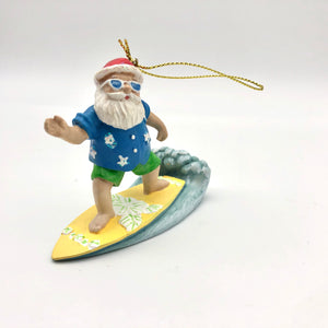 Christmas Ornament - Surfing Santa