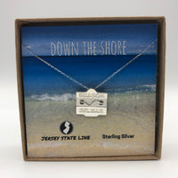 Belmar - Beach Badge Necklace - Sterling Silver