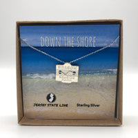 Seaside Park - Beach Badge Necklace - Sterling Silver