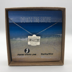 Ortley Beach - Beach Badge Necklace - Sterling Silver