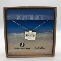 Avon by the Sea - Beach Badge Necklace - Sterling Silver