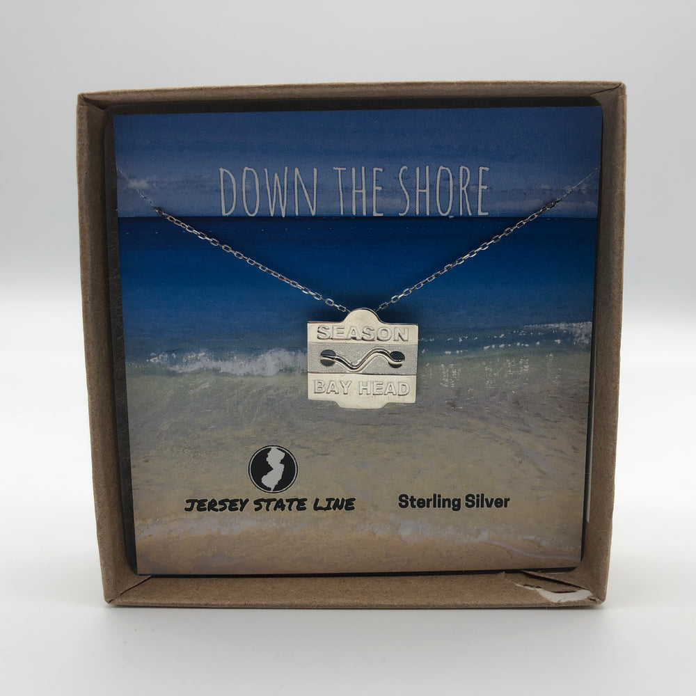 Bay Head - Beach Badge Necklace - Sterling Silver