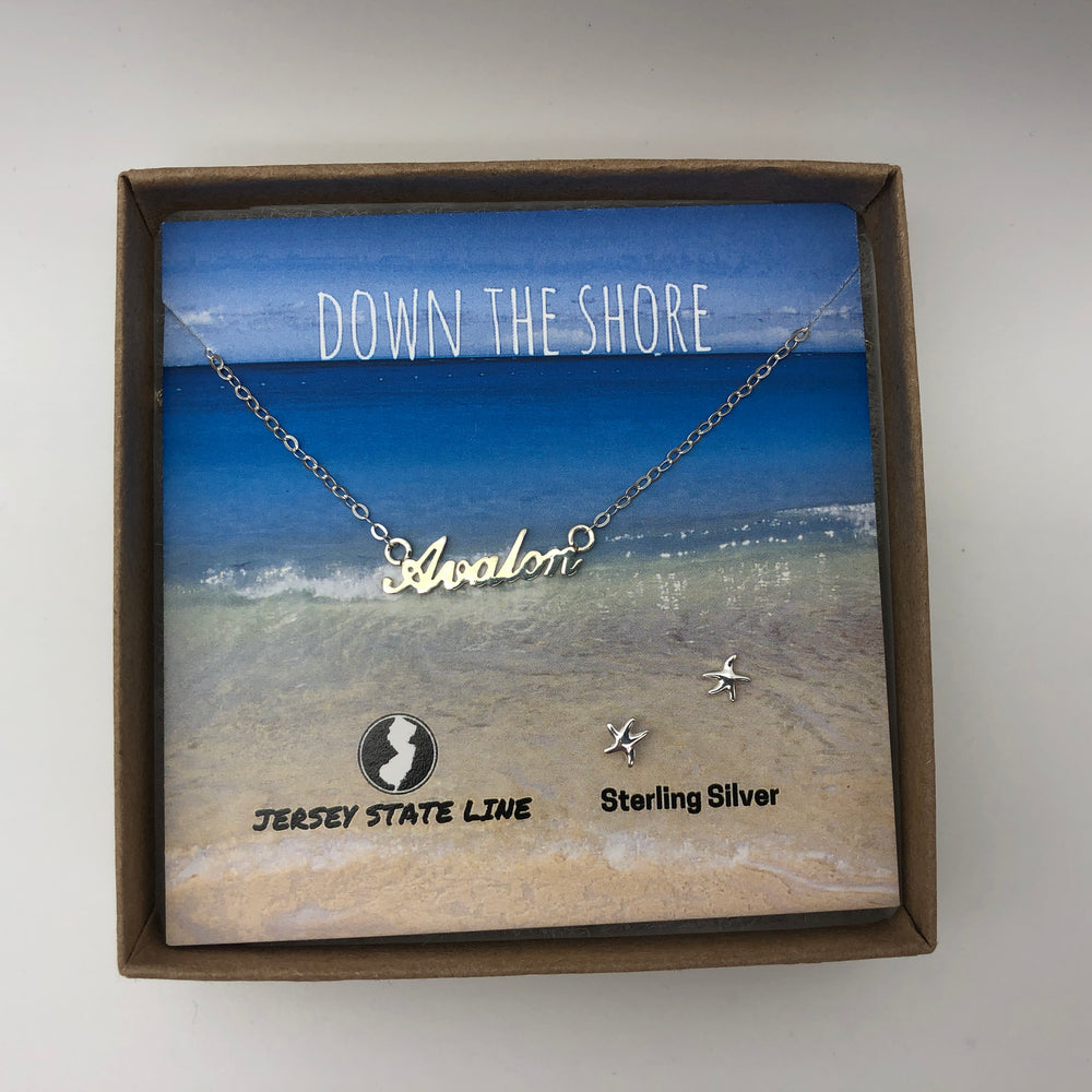 Avalon - Shore Town Necklace - Sterling Silver