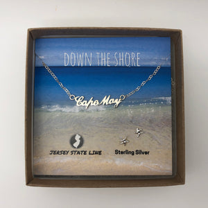 Cape May - Shore Town Necklace - Sterling Silver