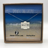 Cape May - Beach Badge Necklace - Sterling Silver