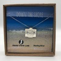 Spring Lake - Beach Badge Necklace - Sterling Silver