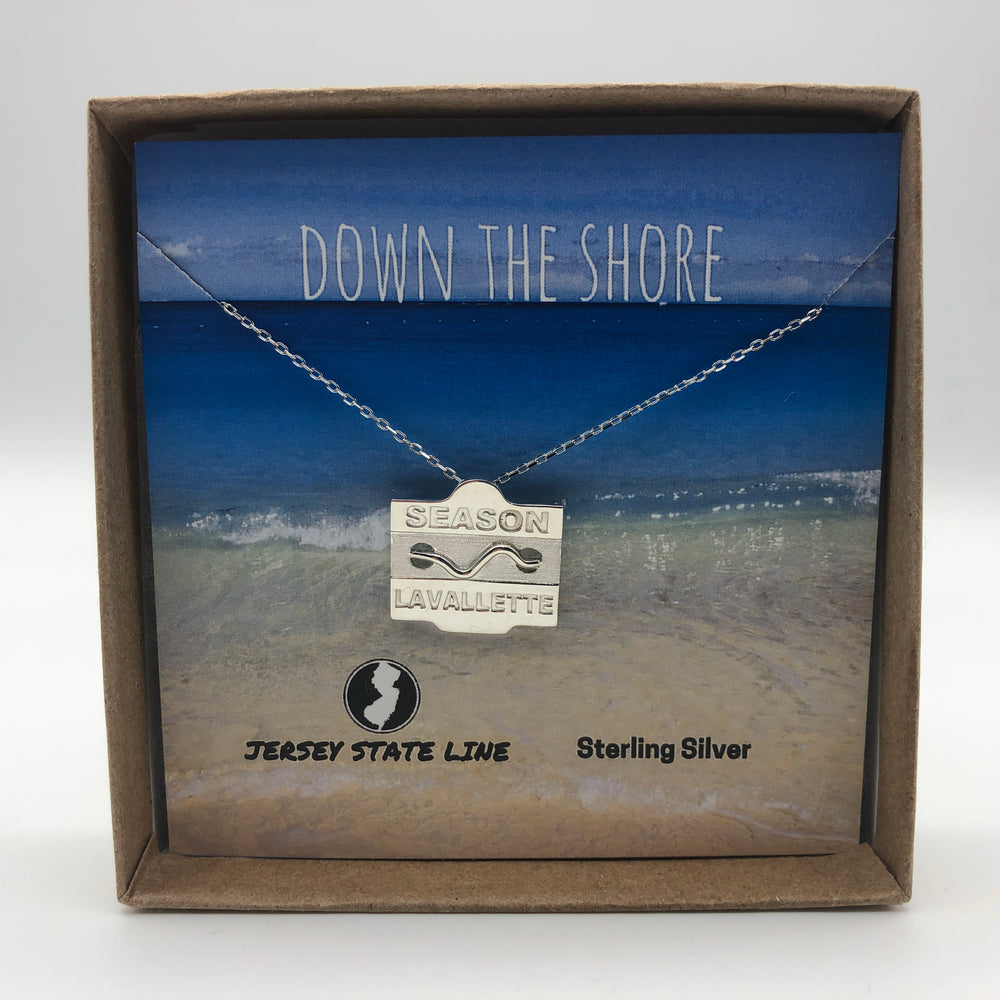 Lavallette - Beach Badge Necklace - Sterling Silver