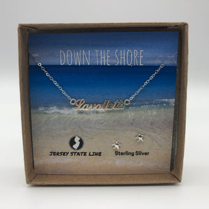 Lavallette - Shore Town Necklace - Sterling Silver