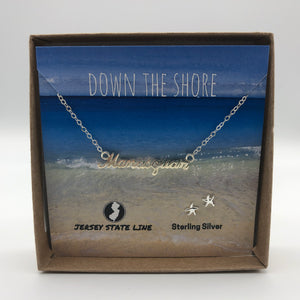 Manasquan - Shore Town Necklace - Sterling Silver
