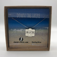 Long Beach Island - Beach Badge Necklace - Sterling Silver