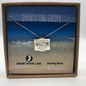 Asbury Park - Beach Badge Necklace - Sterling Silver