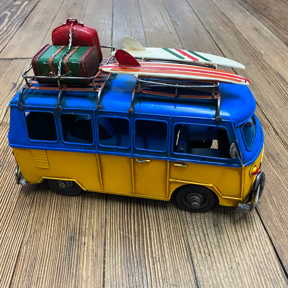 Surfer Bus - Blue & Yellow