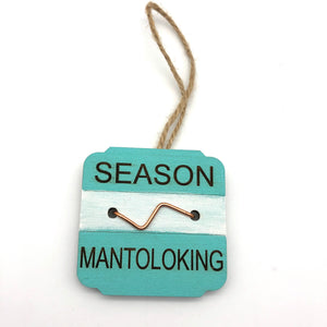 Beach Badge Ornament - Mantoloking