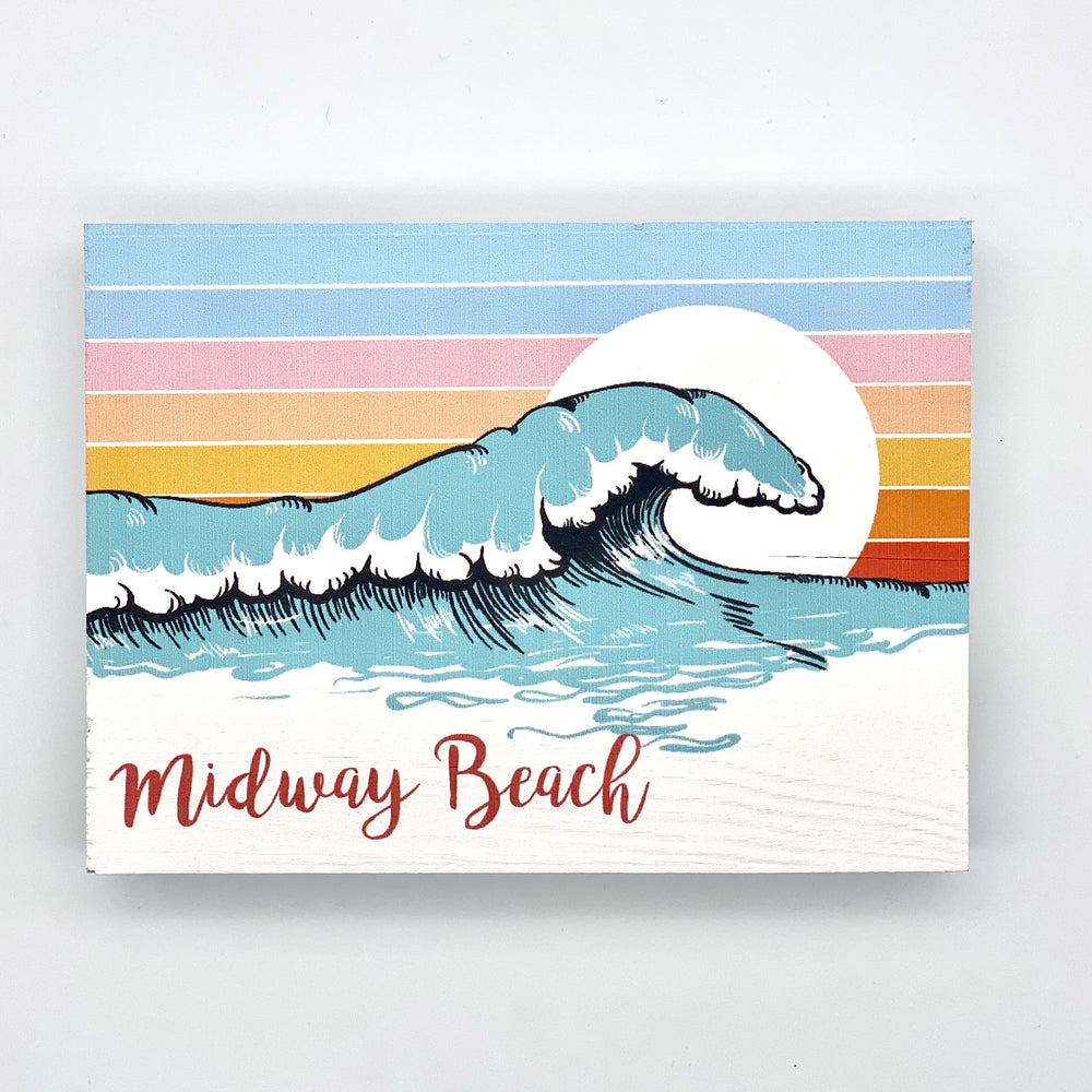 Wooden Word Block - Wave Midway Beach