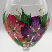Ortley Beach - Wine Glass - Hibiscus