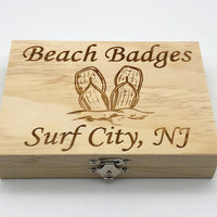 Beach Badge Box - Flip Flops - Surf City