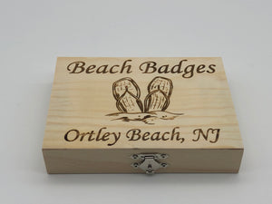 Beach Badge Box - Flip Flops - Ortley Beach