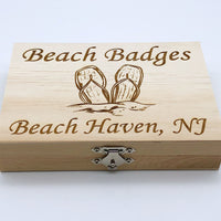 Beach Badge Box - Flip Flops - Beach Haven