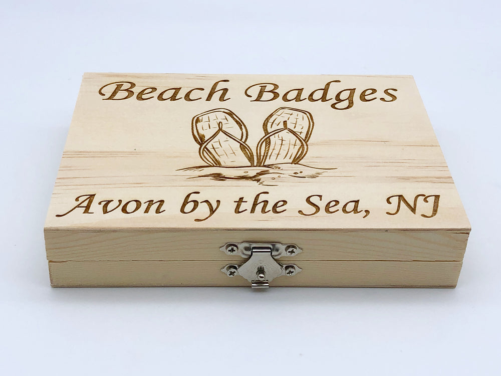 Beach Badge Box - Flip Flops - Avon by the Sea