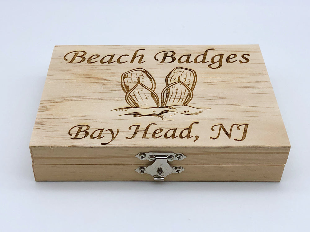 Beach Badge Box - Flip Flops - Bay Head