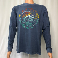 Midway Beach Long Sleeve - Etched Wave - Lakeshore