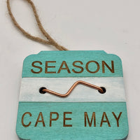 Beach Badge Ornament - Cape May