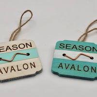 Beach Badge Ornament - Avalon
