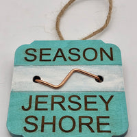 Beach Badge Ornament - Jersey Shore