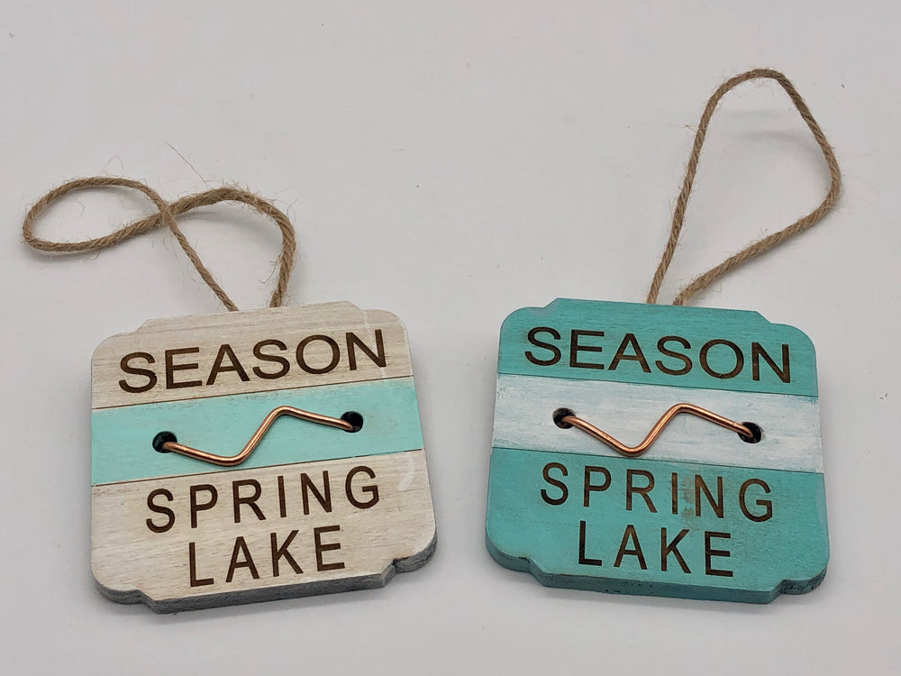 Beach Badge Ornament - Spring Lake