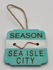 Beach Badge Ornament - Sea Isle City