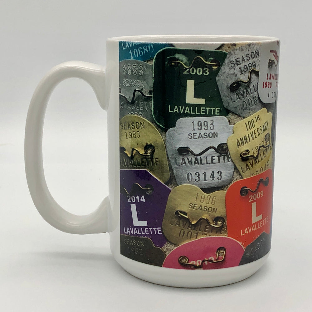Coffee Mug - Lavallette Beach Badges