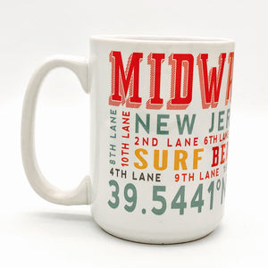 Coffee Mug - Midway Beach Typo