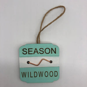 Beach Badge Ornament - Wildwood