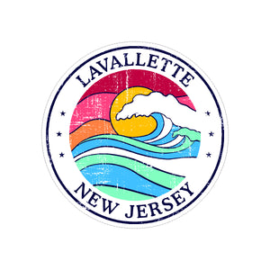 Sticker - Lavallette - Sun & Wave Round