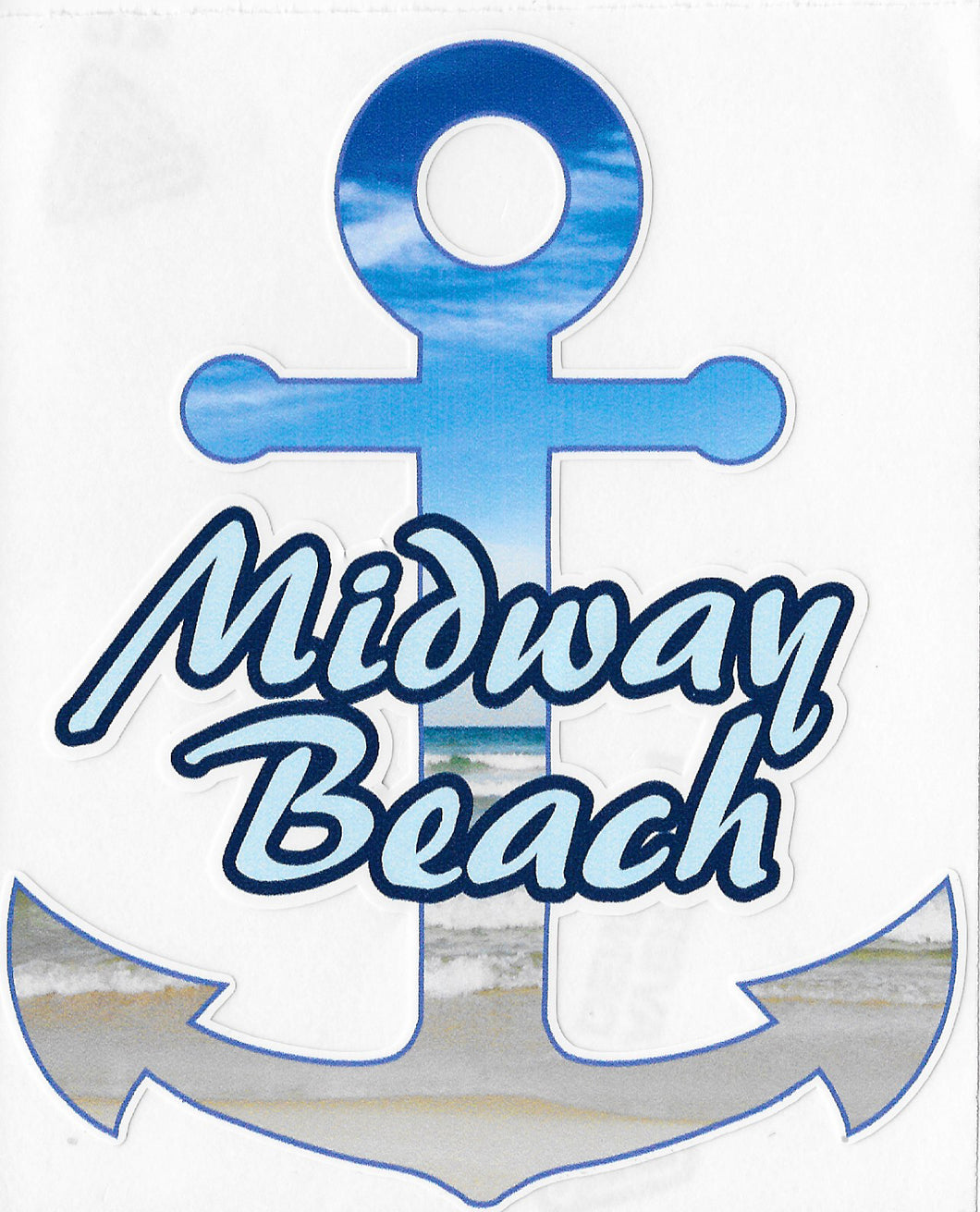 Midway Beach Anchor Decal